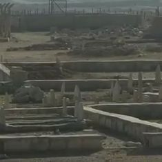 Watch: In war-torn Iraq, people are burying their dead wherever they can find space