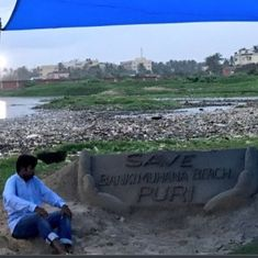 Odisha sand artist Sudarsan Pattnaik  hospitalised amidst hunger strike to protest beach pollution