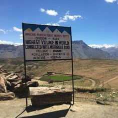 At the world's highest motorable village in the Himalayas, water levels have hit a new low