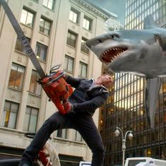 Sharks, tornadoes, and sharks in tornadoes: Inside 'Sharknado', the best bad disaster movie series