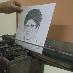 Video: Meet the man who drew Sachin Tendulkar with a typewriter