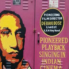 A Kolkata resident has covered his neighbourhood with murals of Bengali cultural icons