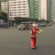 Video: This dancing traffic cop is spreading joy on the busy streets of Manila