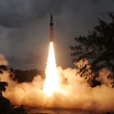 India test-fires nuclear-capable intercontinental ballistic missile Agni-V from Abdul Kalam island