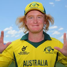 He may not look like Shane Warne but Lloyd Pope sure can let it rip like the Australia legend