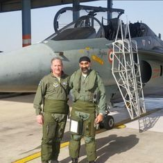 United States Air Force chief flies the Tejas aircraft on India visit