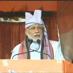 CPI(M) believes in violence and not democracy, Narendra Modi says in Agartala rally