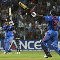 Do you remember the drama before *that* six, when India won the 2011 World Cup?