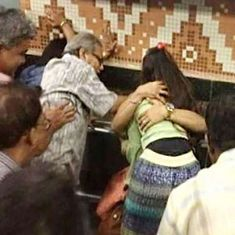 In viral photo of two arms embracing a young woman in green, Kolkata has betrayed its liberal image