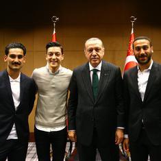 Mesut Ozil and Ilkay Gundogan earn federation ire after photo with Turkish president Erdogan
