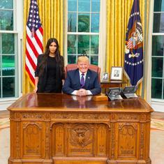 US: Donald Trump meets reality TV star Kim Kardashian West to discuss prison reform
