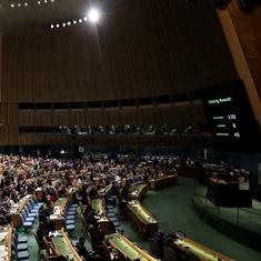 UN General Assembly adopts resolution condemning Israel for excessive force at Gaza border