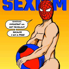 Superman without tights, Spider-Man in a thong: An Indian lampoons the sexism of comic book covers