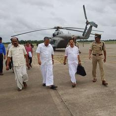 In flood-hit Kerala, chief minister and Opposition leader send unity message with helicopter ride