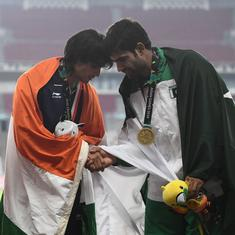 Didn't realise I was flanked by Chinese and Pakistani athletes on victory podium: Neeraj Chopra