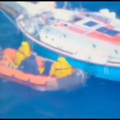 Watch: How the stranded and injured naval officer Abhilash Tomy was rescued from the Indian Ocean